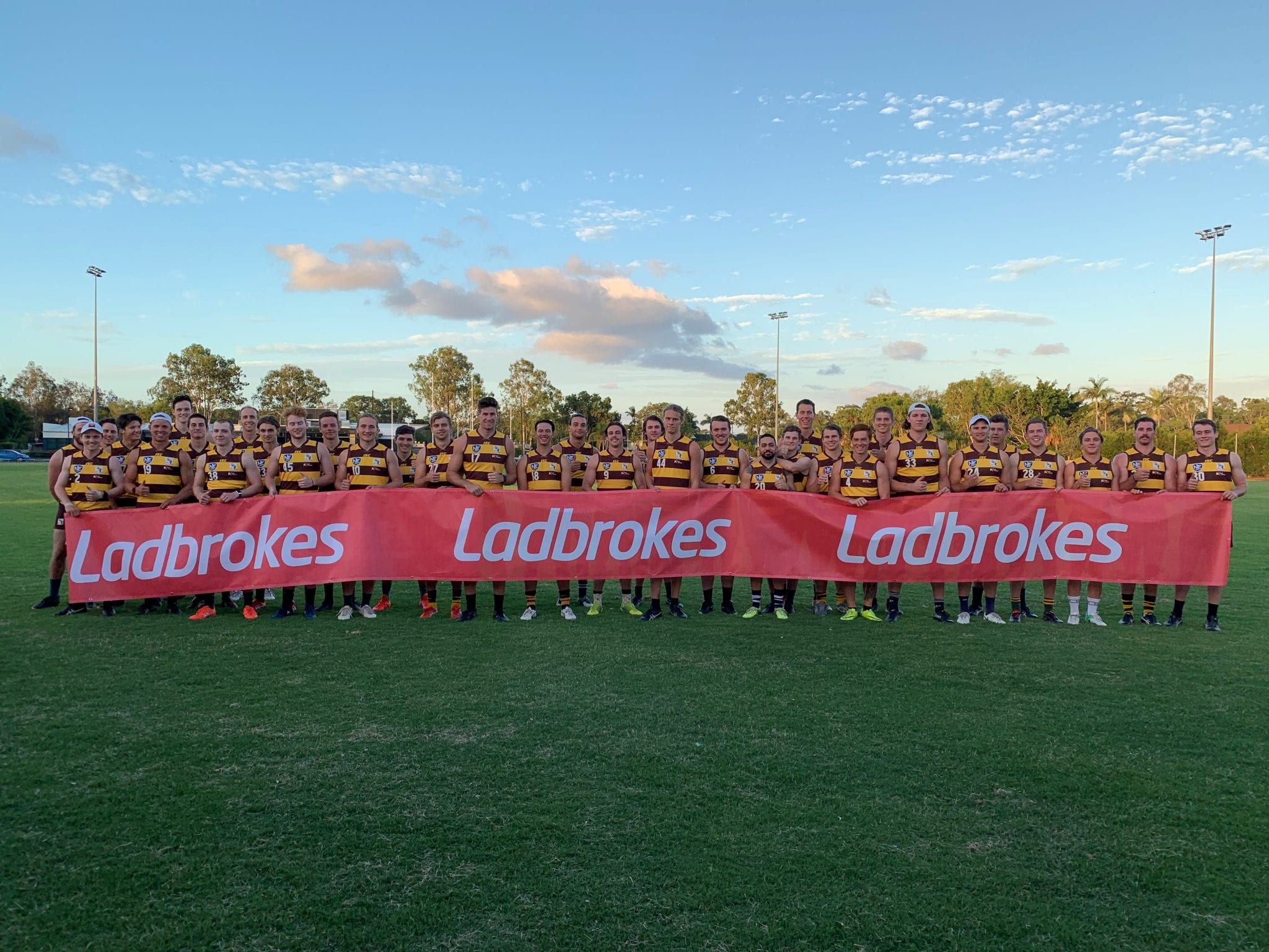 Neafl Team With Ladbrokes Sign
