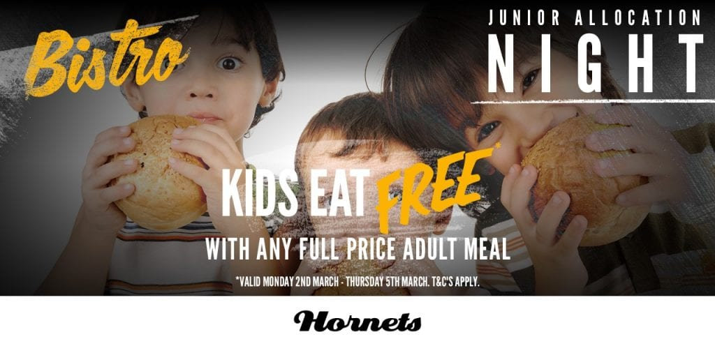 Kids Eat Free, Junior Allocation Nights