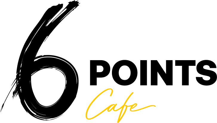 6 Points Cafe Logo - CMYK