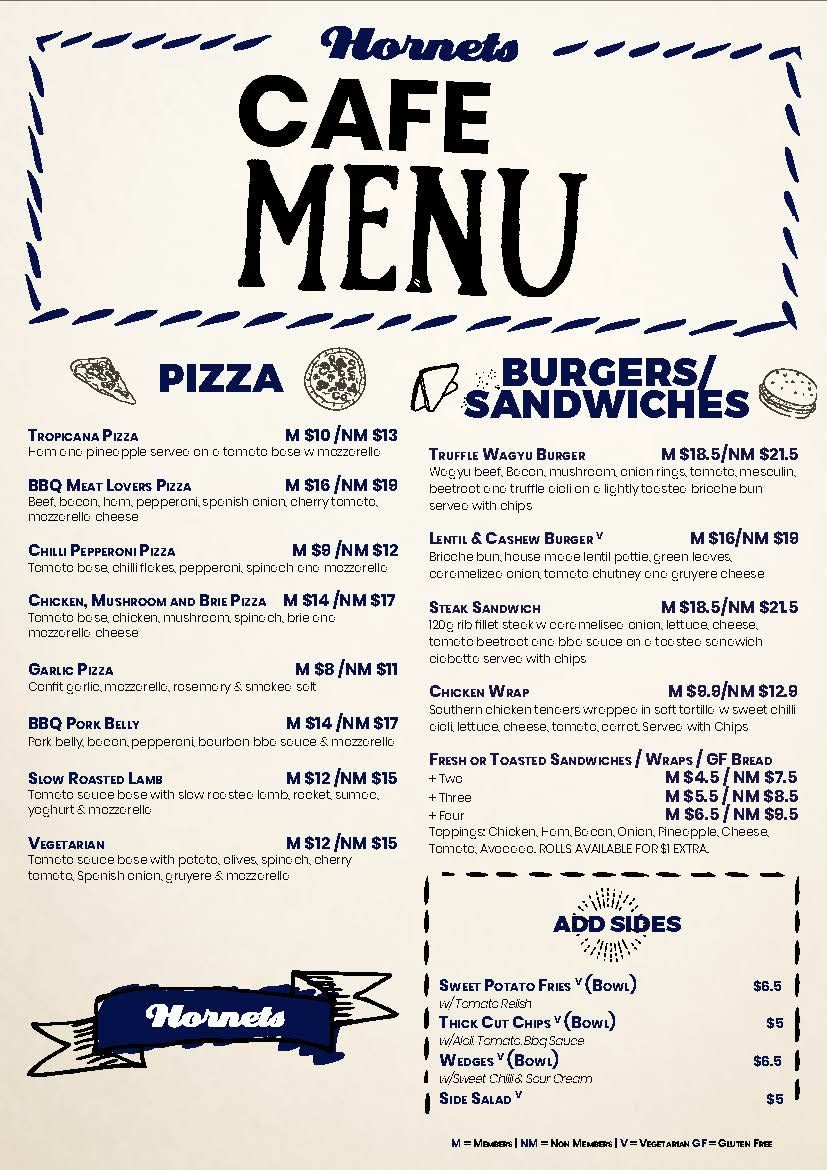 Olive Garden Menu Pdf: Aspley Hornets Football Club